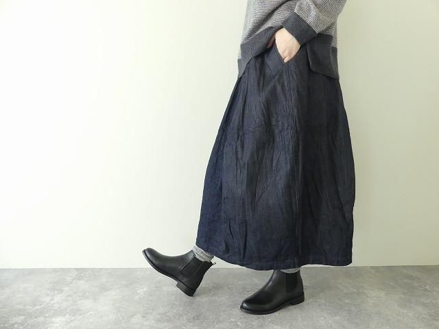 11ozムラデニム裏起毛バルーンスカートの商品画像5