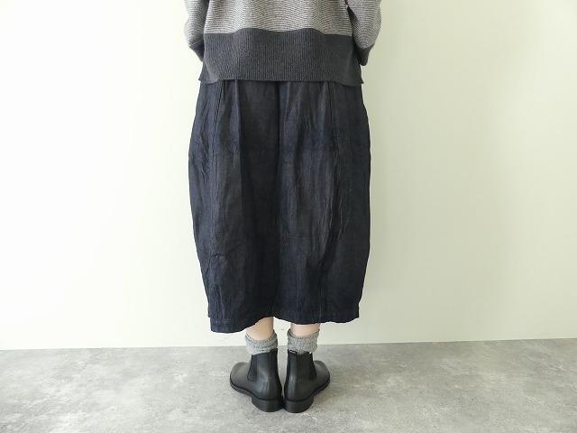 11ozムラデニム裏起毛バルーンスカートの商品画像6