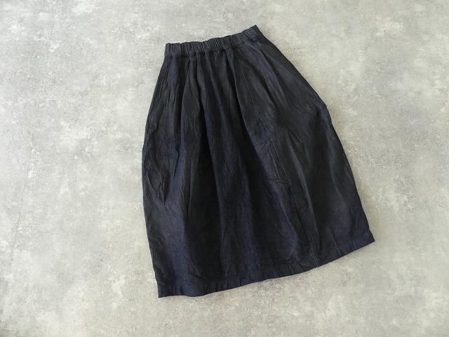 11ozムラデニム裏起毛バルーンスカートの商品画像7