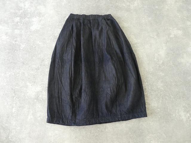 11ozムラデニム裏起毛バルーンスカートの商品画像8