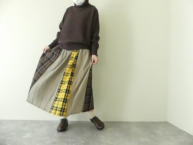 カード天竺パネルシャーリングスカートの商品画像1