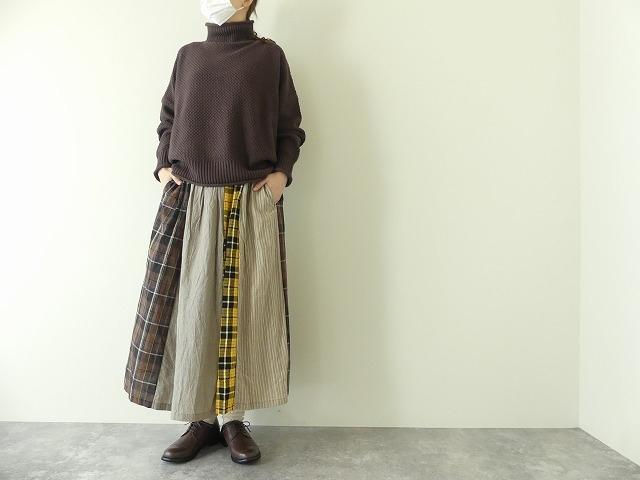 カード天竺パネルシャーリングスカートの商品画像2
