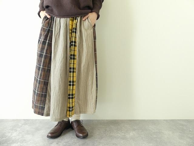 カード天竺パネルシャーリングスカートの商品画像4