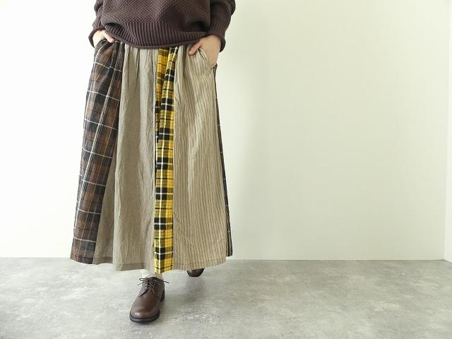 カード天竺パネルシャーリングスカートの商品画像5