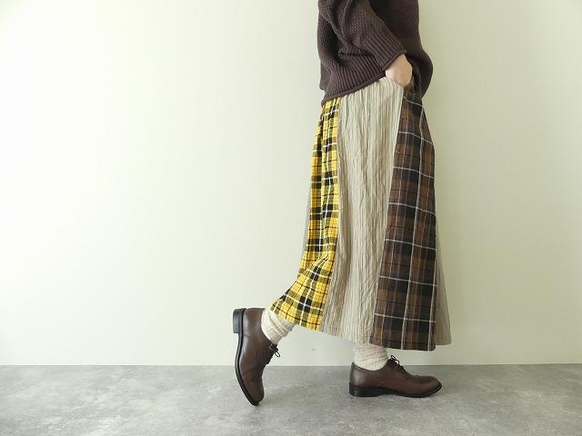 カード天竺パネルシャーリングスカートの商品画像6