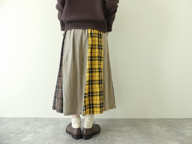 カード天竺パネルシャーリングスカートの商品画像7