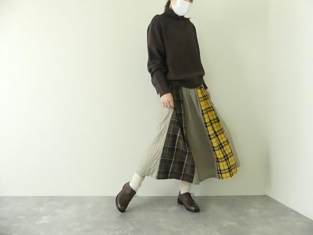 カード天竺パネルシャーリングスカートの商品画像8