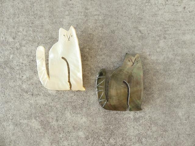シェルネコブローチの商品画像6