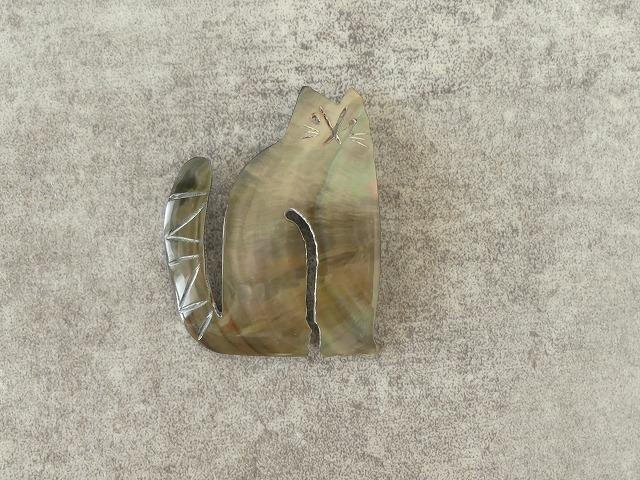 シェルネコブローチの商品画像7