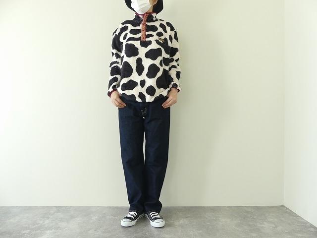 牛柄フリーススナップTの商品画像3