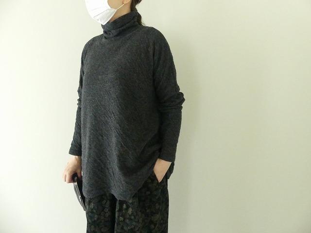ウール綿接結タートルネックワイドプルオーバーの商品画像1