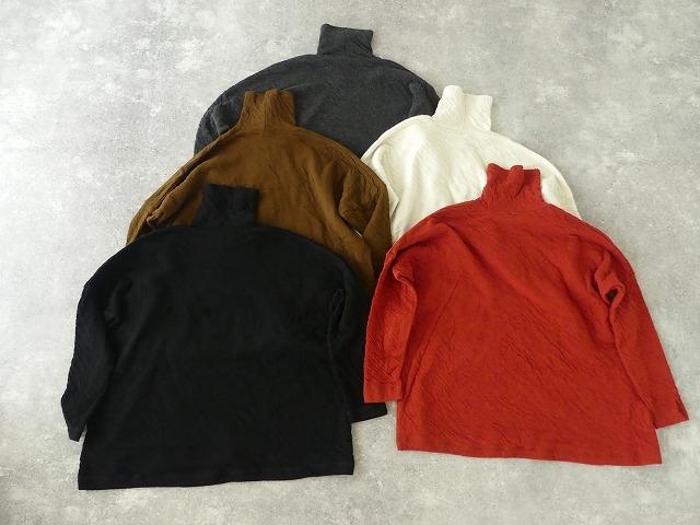 ウール綿接結タートルネックワイドプルオーバーの商品画像10