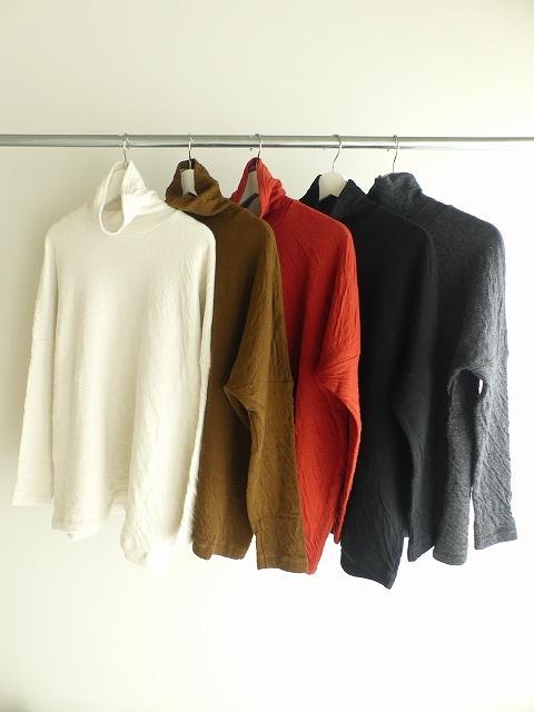 ウール綿接結タートルネックワイドプルオーバーの商品画像2
