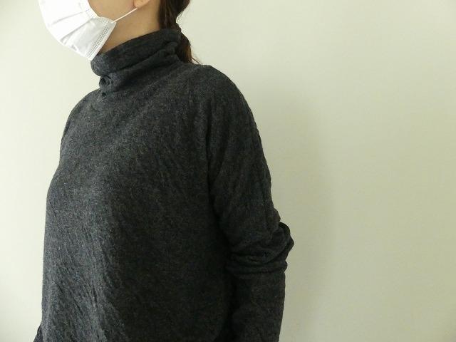 ウール綿接結タートルネックワイドプルオーバーの商品画像3