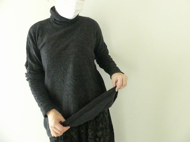 ウール綿接結タートルネックワイドプルオーバーの商品画像4
