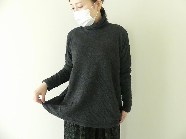 ウール綿接結タートルネックワイドプルオーバーの商品画像5