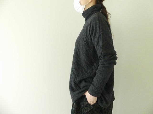ウール綿接結タートルネックワイドプルオーバーの商品画像6