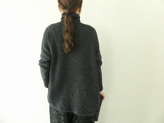 ウール綿接結タートルネックワイドプルオーバーの商品画像7