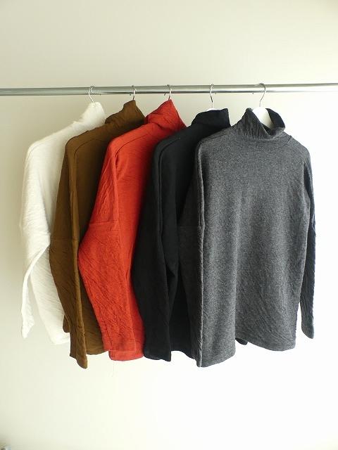 ウール綿接結タートルネックワイドプルオーバーの商品画像9