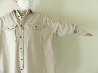 ウールカシミヤビーバーミリタリーシャツの商品画像19