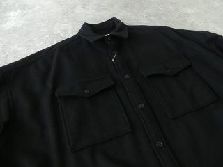 ウールカシミヤビーバーミリタリーシャツの商品画像24
