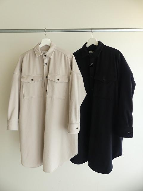 ウールカシミヤビーバーミリタリーシャツの商品画像3