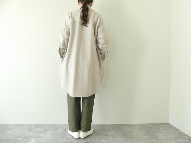 ウールカシミヤビーバーミリタリーシャツの商品画像4