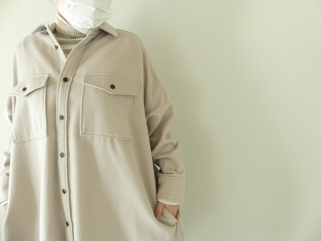 ウールカシミヤビーバーミリタリーシャツの商品画像5
