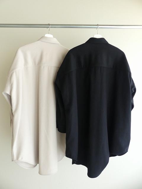 ウールカシミヤビーバーミリタリーシャツの商品画像7