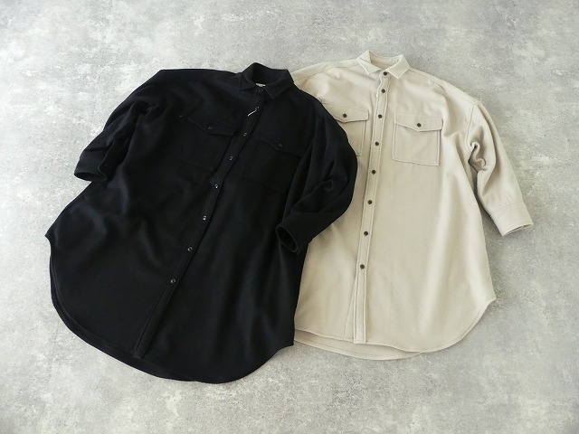 ウールカシミヤビーバーミリタリーシャツの商品画像8