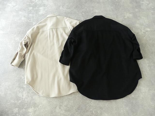 ウールカシミヤビーバーミリタリーシャツの商品画像9
