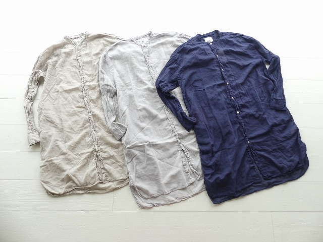 ユーティリティバンドカラーロングシャツ