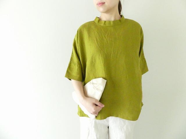 2wayフレンチリネンキャンバスプルオーバーシャツ