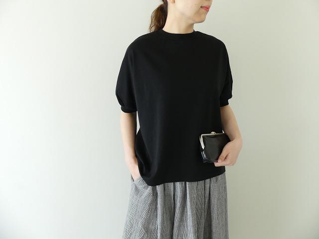 天竺5分袖パフTシャツ