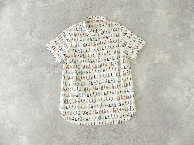歩く人々シャツ