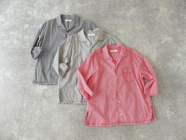 ギンガム7分袖シャツの商品画像2