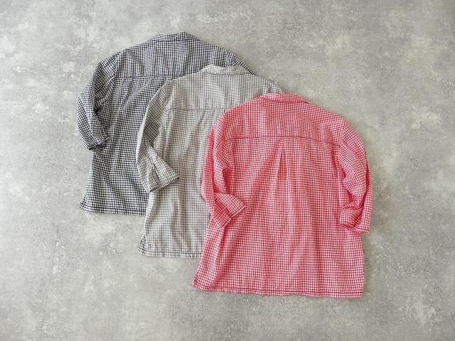 ギンガム7分袖シャツの商品画像3