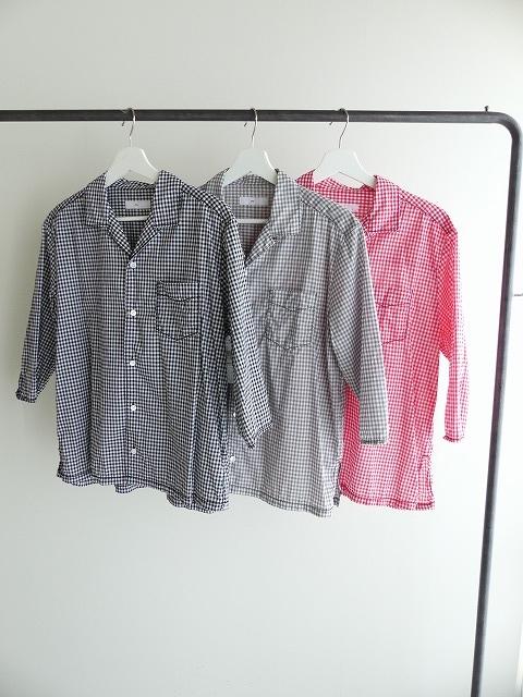 ギンガム7分袖シャツの商品画像4
