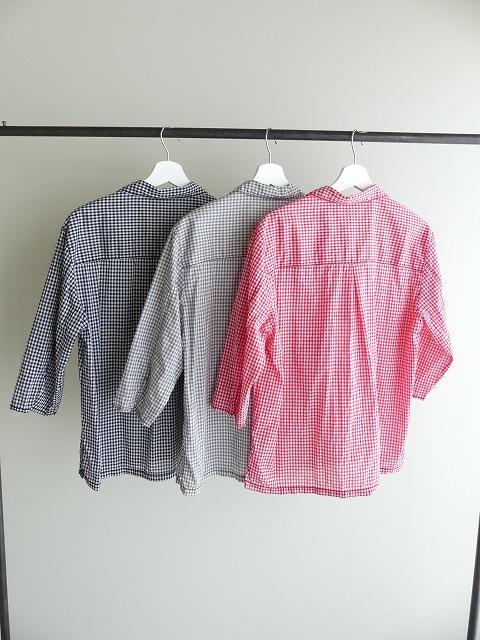 ギンガム7分袖シャツの商品画像5