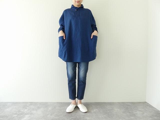 定番プルオーバー型リネンビッグシャツの商品画像1