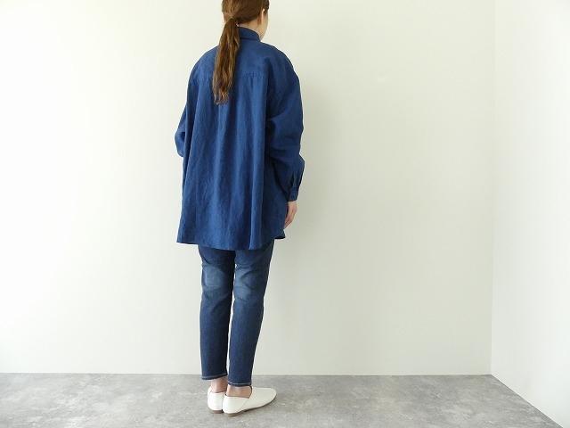定番プルオーバー型リネンビッグシャツの商品画像3