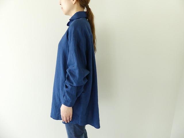 定番プルオーバー型リネンビッグシャツの商品画像4