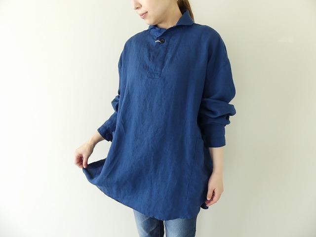 定番プルオーバー型リネンビッグシャツの商品画像5
