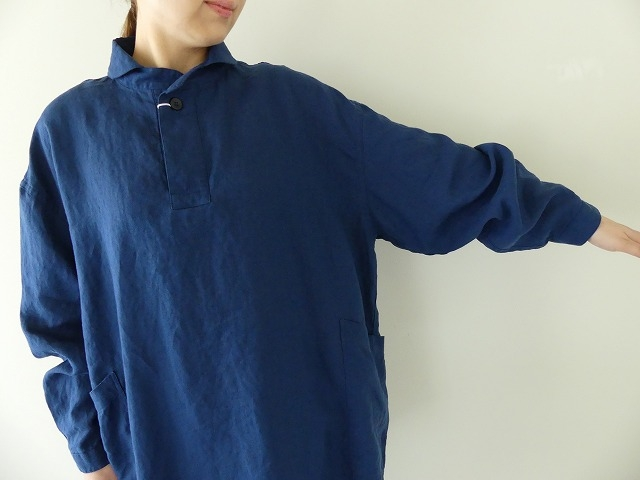 定番プルオーバー型リネンビッグシャツの商品画像6