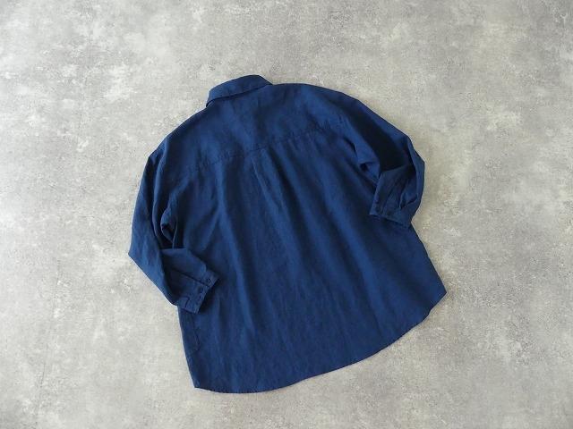 定番プルオーバー型リネンビッグシャツの商品画像9