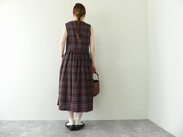 インディアンマドレスチェックドレスの商品画像6