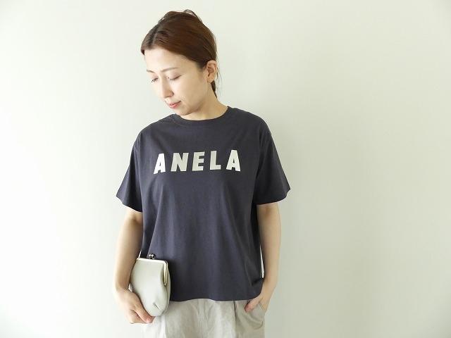 ハイゲージ天竺ロゴTシャツ ANELAの商品画像2