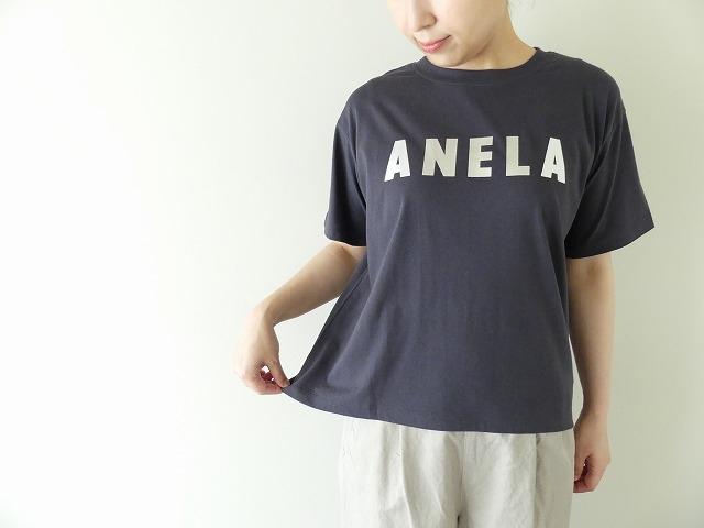 ハイゲージ天竺ロゴTシャツ ANELAの商品画像3