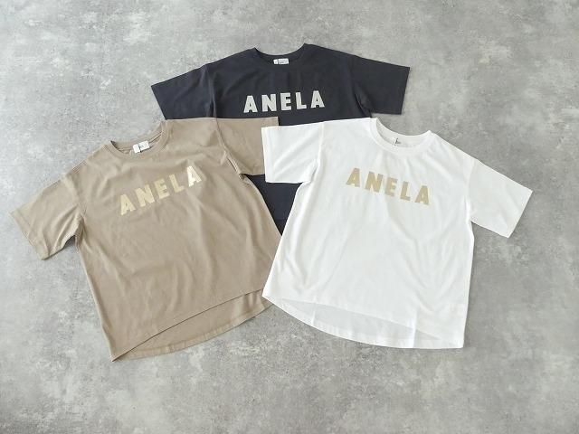 ハイゲージ天竺ロゴTシャツ ANELAの商品画像6