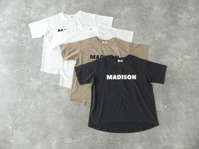 ハイゲージ天竺ロゴTシャツ MADISONの商品画像2
